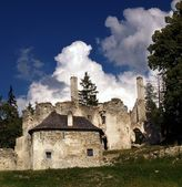 Sklabina Castle and Manor house — Stock Photo