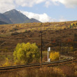 Railroad and mountain - Foto Stock
