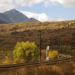 Railroad and mountain - Stockfoto