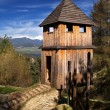 Stock Photo: Wooden fortification