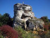 Rock ile çapraz — Stok fotoğraf