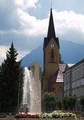 Chiesa e Fontana — Foto Stock