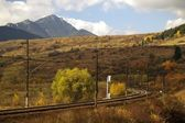 Railroad and mountain — Stock Photo