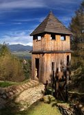 Wooden fortification — Stock Photo