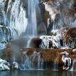 Waterfall in winter — Stock Photo #2408974