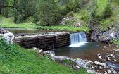 Waterfall in Kvacianska Valley — Stock Photo