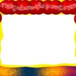 cornice festosa luminoso — Foto Stock