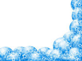 Boże narodzenie narożnik niebieski rama — Zdjęcie stockowe