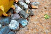 Composição de fantasia de pedras coloridas — Fotografia Stock