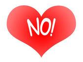 Heart Says No — Stock Photo