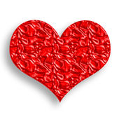 Wrinked Red Heart — Stock Photo
