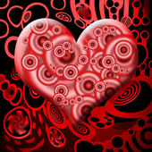 Bloody Heart — Stock Photo