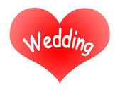 Cuore dice nozze — Foto Stock