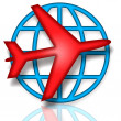 Global Flight — Stock Photo