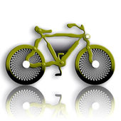 Military Styled Bicycle — Stock Photo