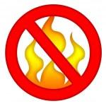 sem fogo — Foto Stock