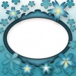 Floral Blue Frame — Stock Photo