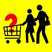 Cesta del consumidor — Foto de Stock