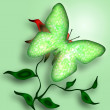 Stock Photo: Green Butterfly