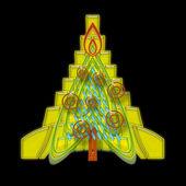 Geometric Christmas Tree — Stock Photo