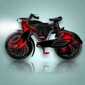 Zwarte paard fiets — Stockfoto