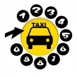 Call Taxi — Stock Photo