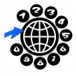 Global Communications - Stockfoto
