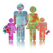 Abstract Family — Stock Photo