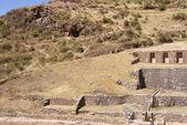 Inca baths - fine stonework — Stock Photo