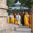 Japanese monks and nuns — Stock Photo