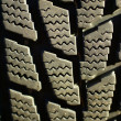 Detail, snow tire tread — Stock Photo