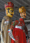 Puppets and marionettes of Rajput — Stock Photo