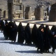 Foto Stock: Group of veiled Iraniwomen