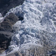 Glacier icefall in high Andes — Stock Photo