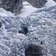 Stock Photo: Glacier icefall in high Andes