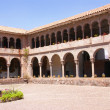 Stock Photo: Spanish Colonial cloister courtyard,