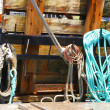 Stock Photo: Harbor detail, coils of rope