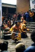 Mani Rimdu dancer — Stock Photo