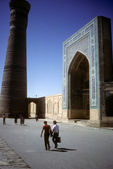Minaret and mosque — Stock Photo