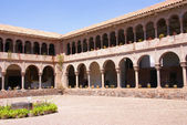 Spanish Colonial cloister courtyard, — Foto de Stock