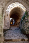 Entrance maze of Krak des Chevaliers — Foto de Stock