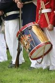 Detail,Drummer boy and drums — Stock Photo