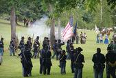 Union infantry column — Stock Photo