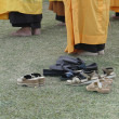 Detail, Japanese monks - Stock Photo