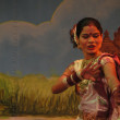 Stock Photo: Indidancer performs classical dance