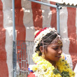 Bride visits the Shiva Murga temple — Stock Photo