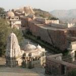 Ancient Jain temple inside the walls — Stock Photo