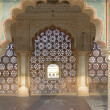 Stock Photo: Intricate marble screen in Amber Fort,