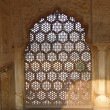Intricate marble screen in  Amber Fort, - Stock Photo