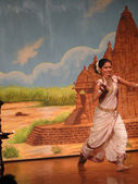Indian dancer performs classical dance — Foto de Stock